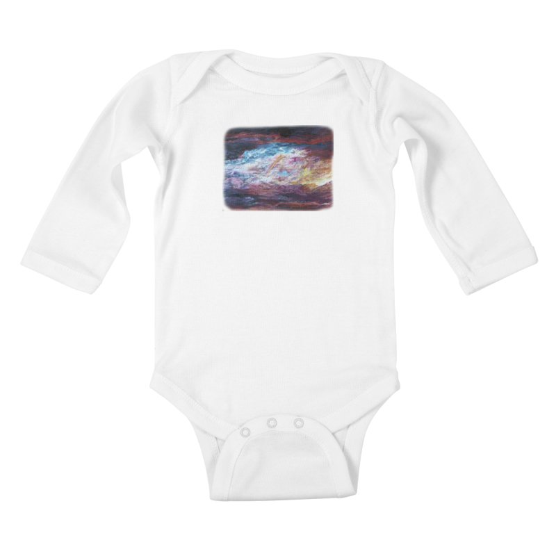 Clouds1 Kids Baby Longsleeve Bodysuit by Elevated Space