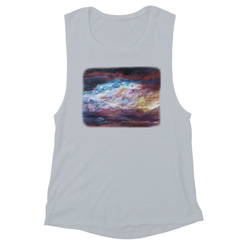 Clouds1 Women's Muscle Tank by Elevated Space