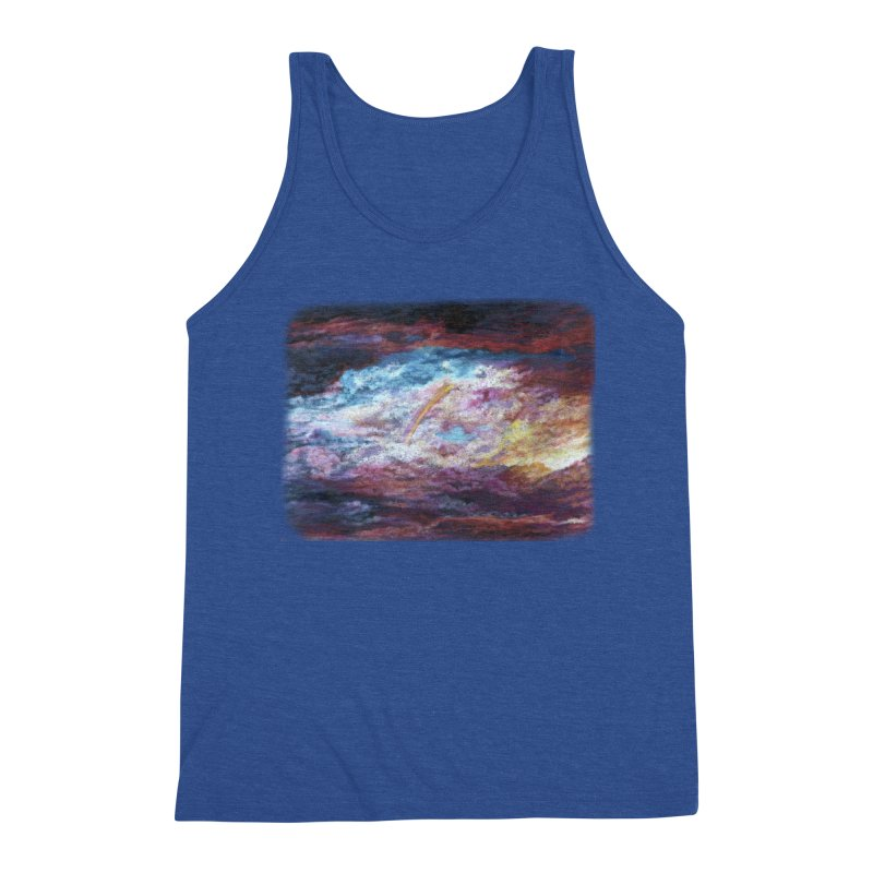 Clouds1 Men's Triblend Tank by Elevated Space