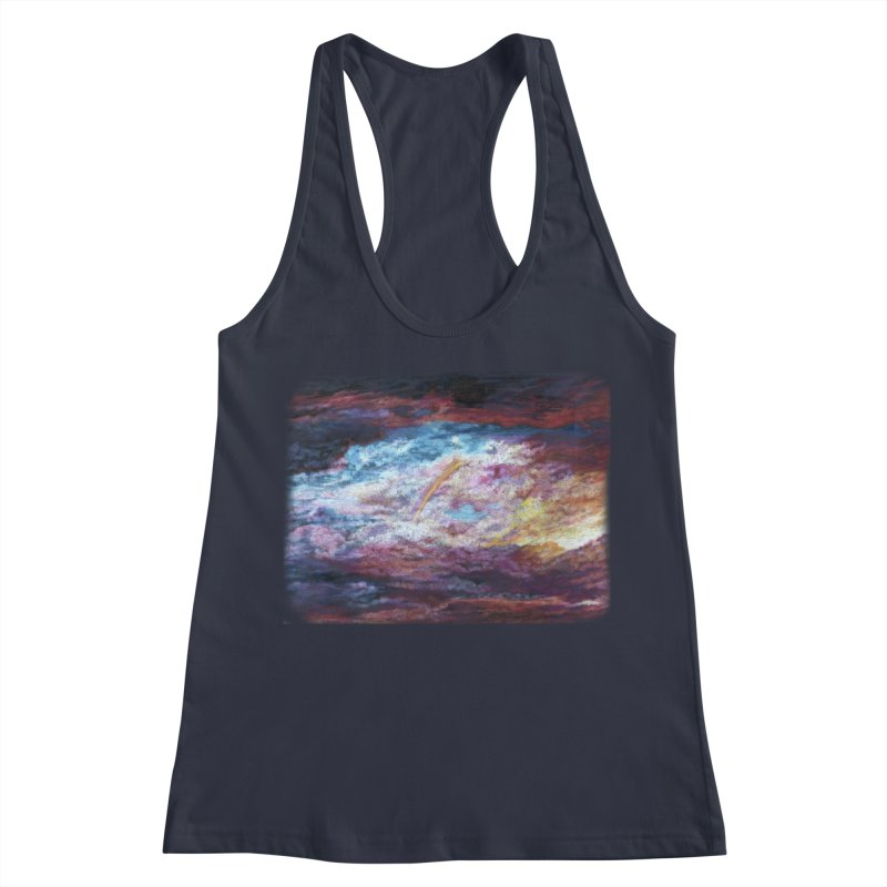 Clouds1 Women's Racerback Tank by Elevated Space