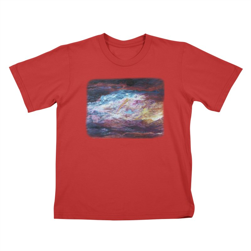 Clouds1 Kids T-Shirt by Elevated Space