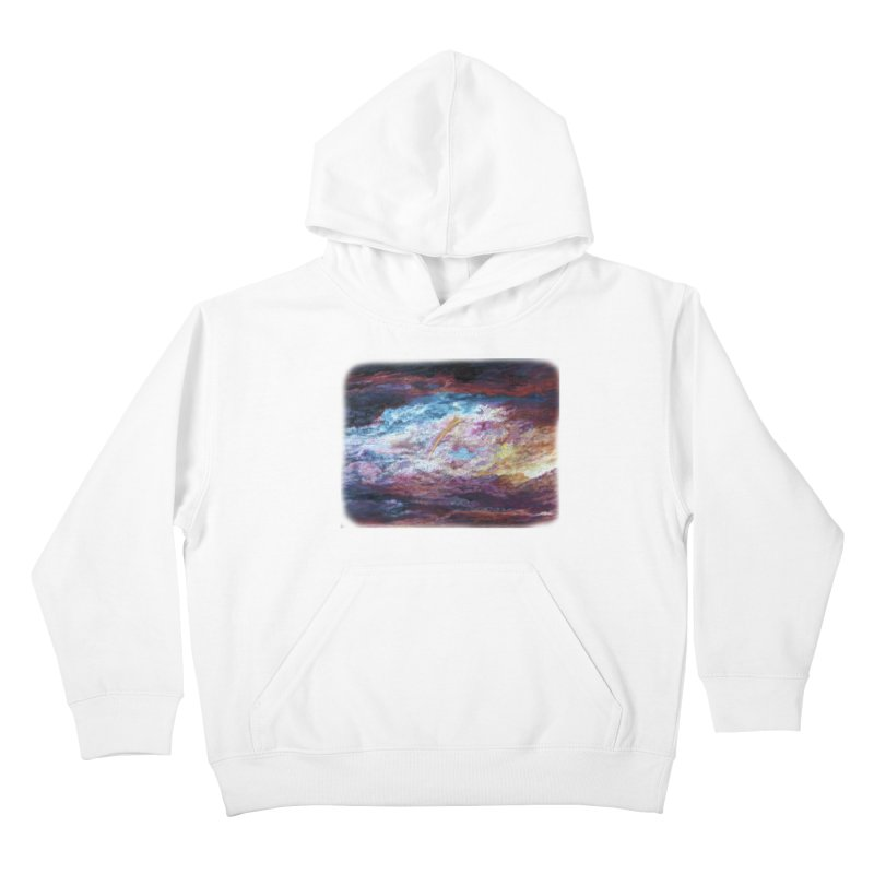 Clouds1 Kids Pullover Hoody by Elevated Space
