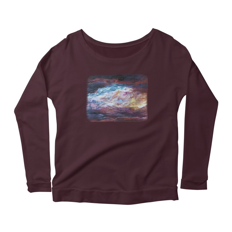 Clouds1 Women's Scoop Neck Longsleeve T-Shirt by Elevated Space