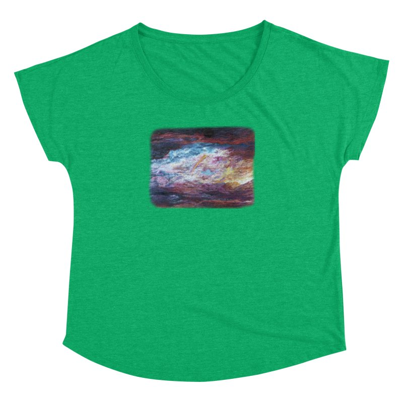 Clouds1 Women's Dolman Scoop Neck by Elevated Space