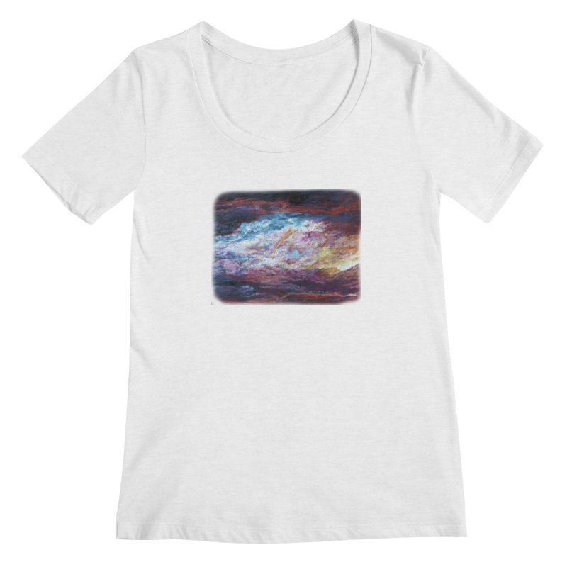 Clouds1 Women's Scoop Neck by Elevated Space