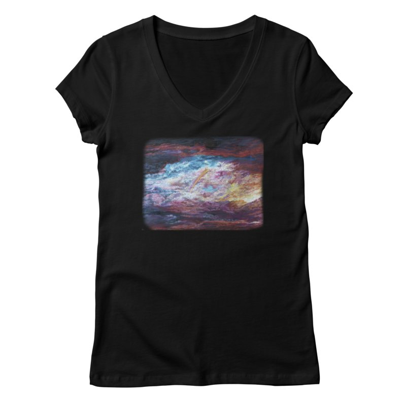 Clouds1 Women's Regular V-Neck by Elevated Space