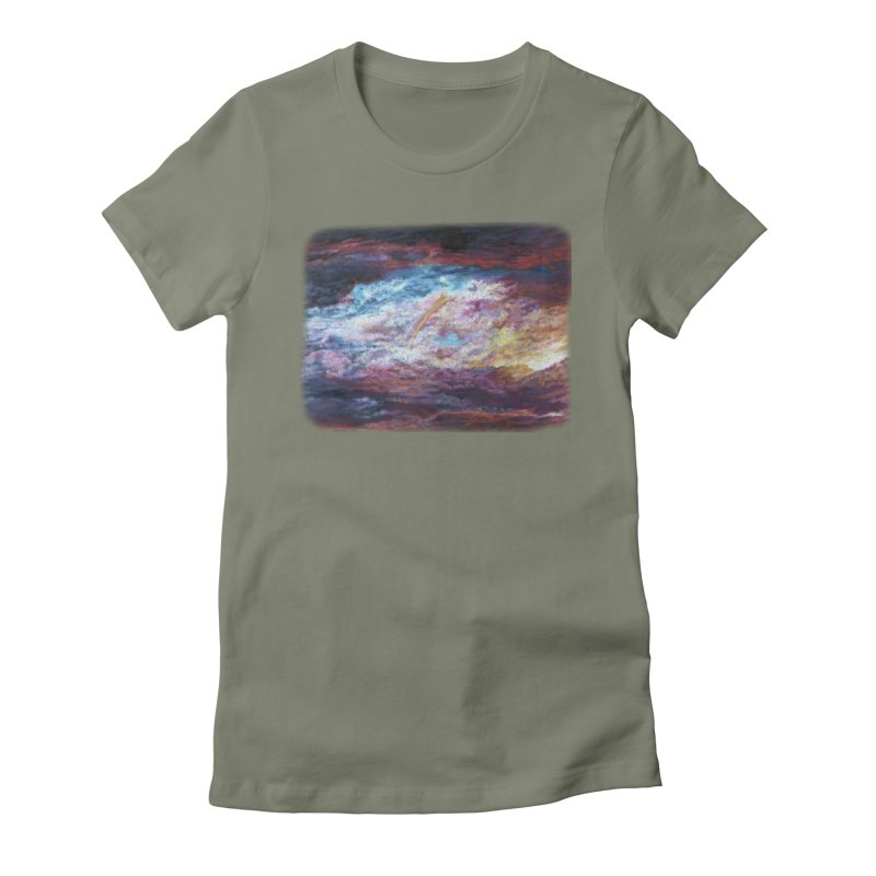 Clouds1 Women's Fitted T-Shirt by Elevated Space