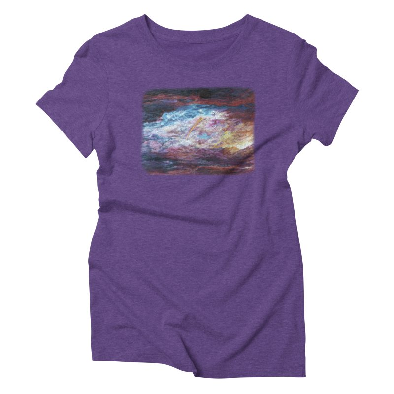Clouds1 Women's Triblend T-Shirt by Elevated Space
