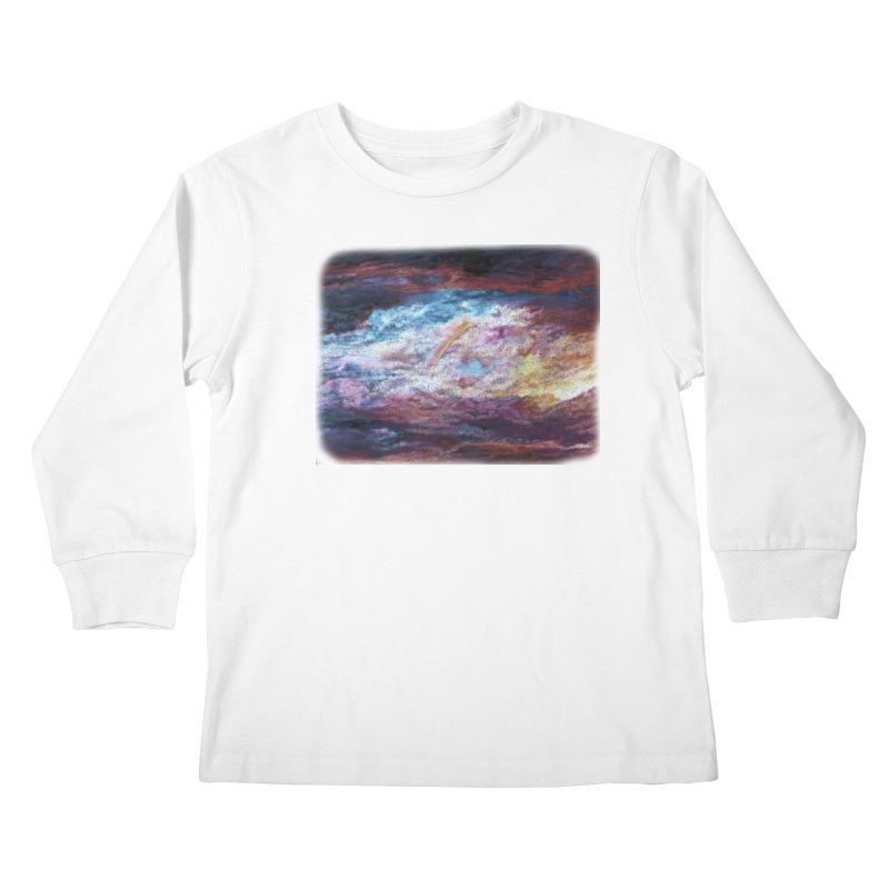 Clouds1 Kids Longsleeve T-Shirt by Elevated Space