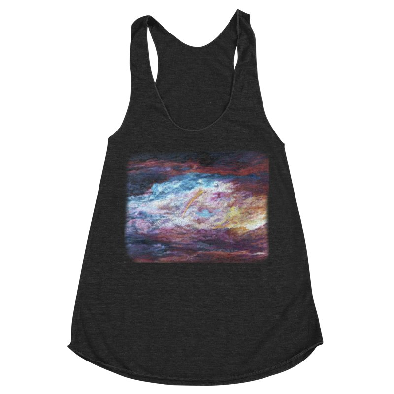 Clouds1 Women's Racerback Triblend Tank by Elevated Space