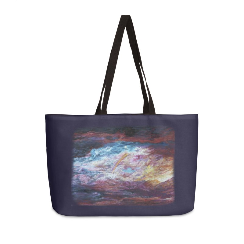 Clouds1 Accessories Weekender Bag Bag by Elevated Space