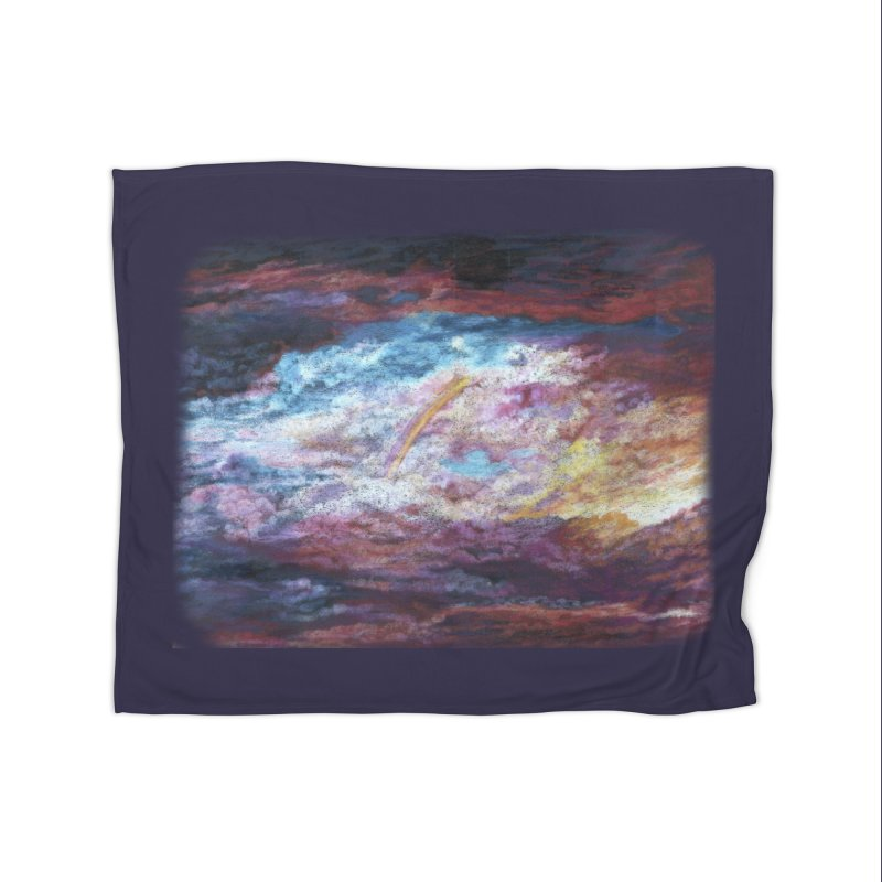 Clouds1 Home Fleece Blanket Blanket by Elevated Space