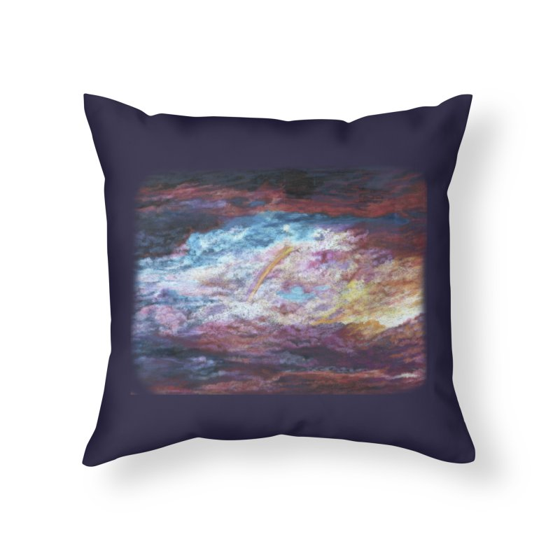 Clouds1 Home Throw Pillow by Elevated Space