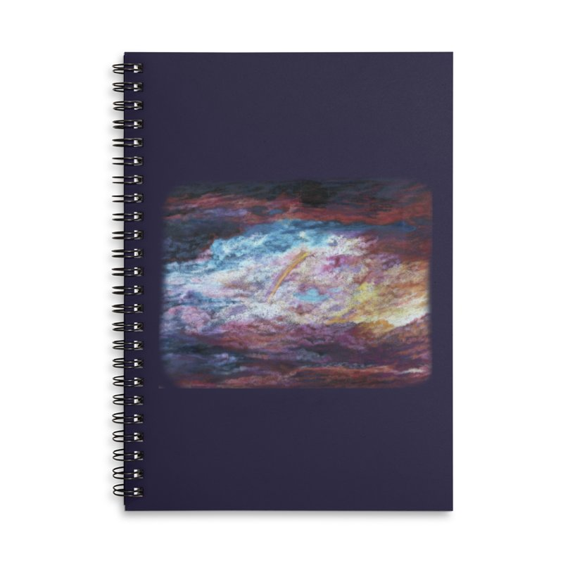 Clouds1 Accessories Lined Spiral Notebook by Elevated Space