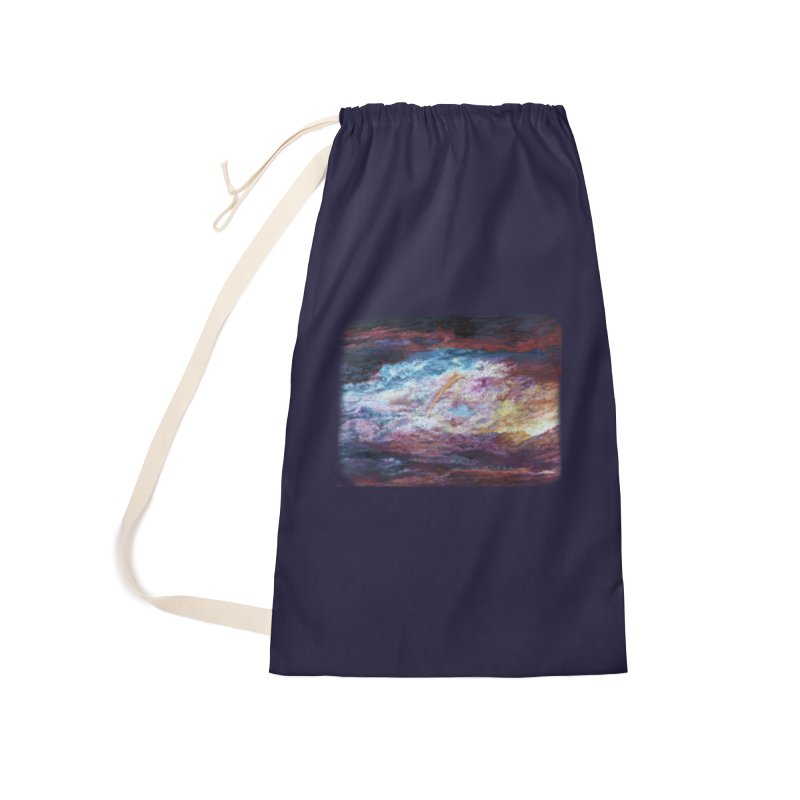 Clouds1 Accessories Laundry Bag Bag by Elevated Space
