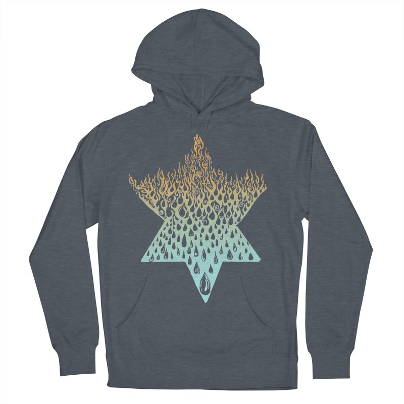 star of david tshirt Women's French Terry Pullover Hoody by Elevated Space