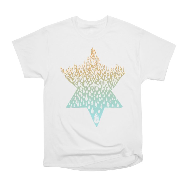 star of david tshirt Men's Heavyweight T-Shirt by Elevated Space