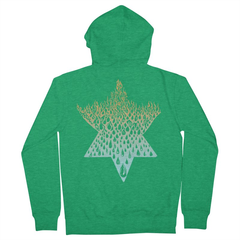 star of david tshirt Women's French Terry Zip-Up Hoody by Elevated Space