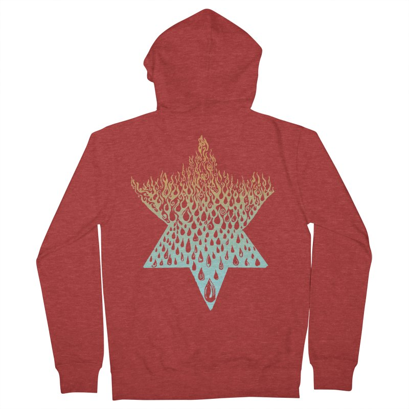 star of david tshirt Men's French Terry Zip-Up Hoody by Elevated Space