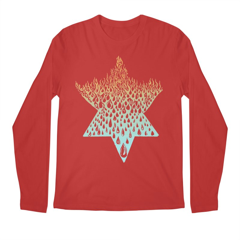 star of david tshirt Men's Regular Longsleeve T-Shirt by Elevated Space