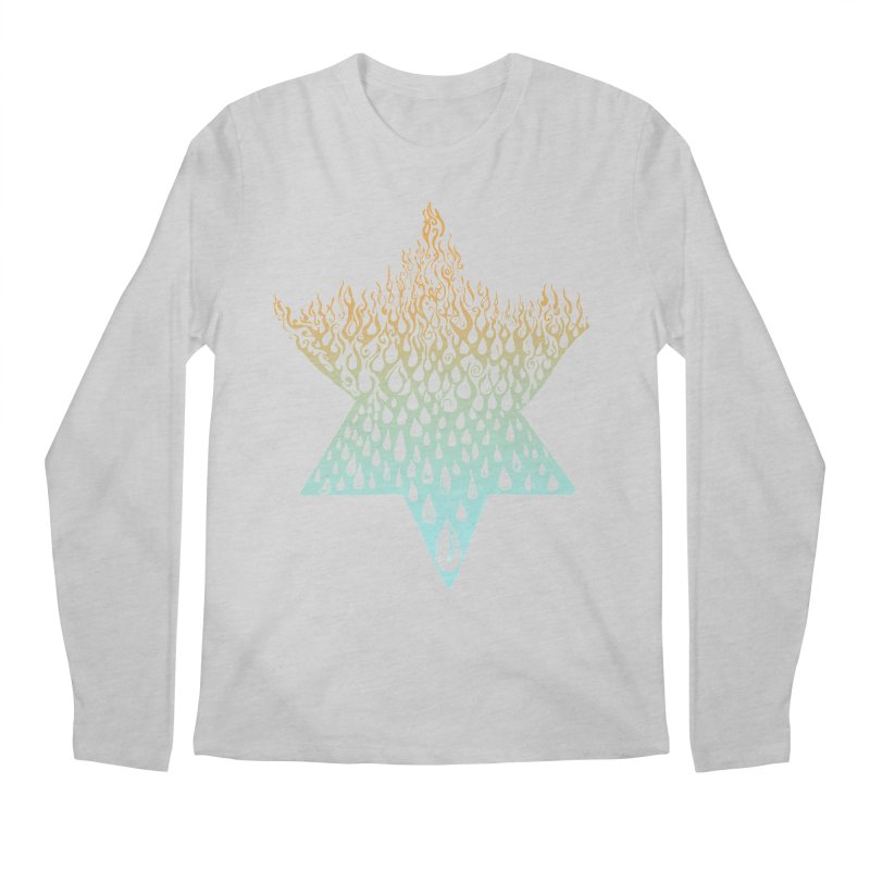 star of david tshirt Men's Regular Longsleeve T-Shirt by Elevated Space