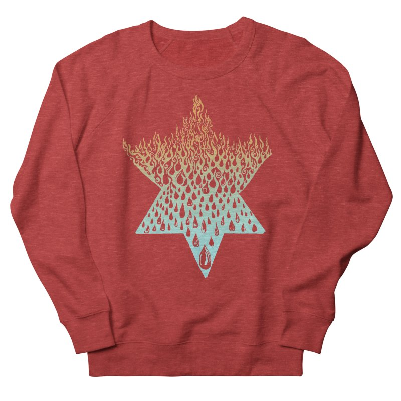 star of david tshirt Women's French Terry Sweatshirt by Elevated Space