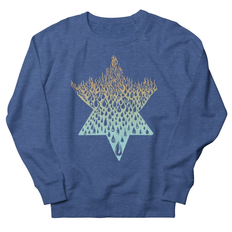 star of david tshirt Men's French Terry Sweatshirt by Elevated Space