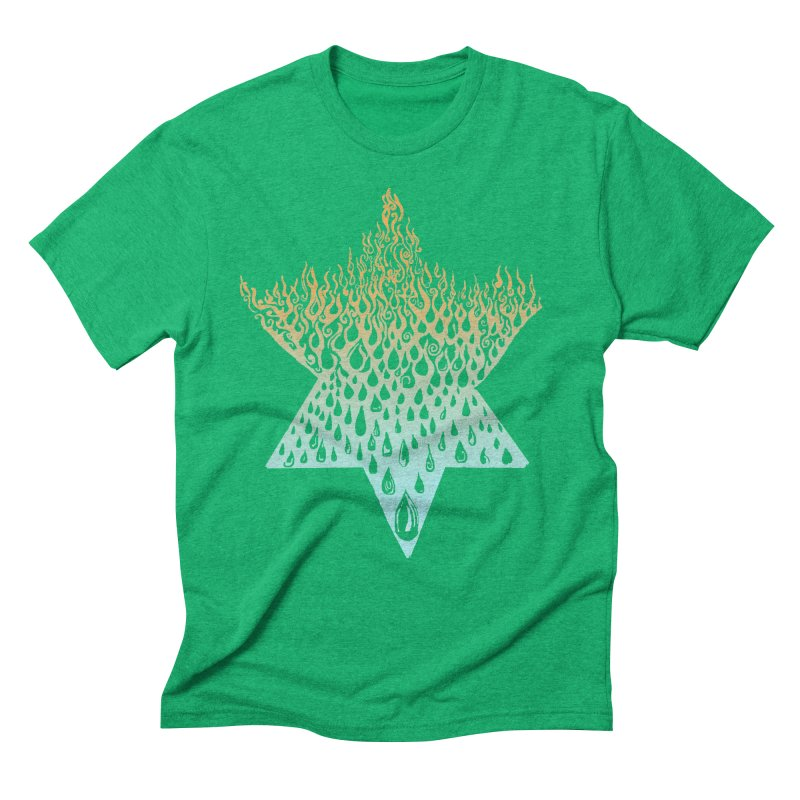 star of david tshirt Men's Triblend T-Shirt by Elevated Space
