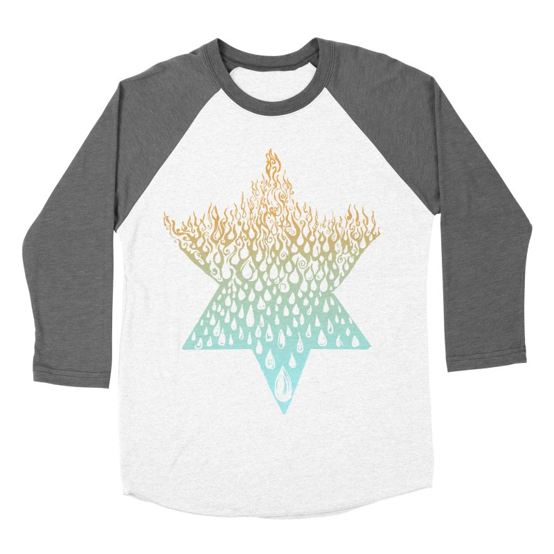star of david tshirt Men's Baseball Triblend Longsleeve T-Shirt by Elevated Space