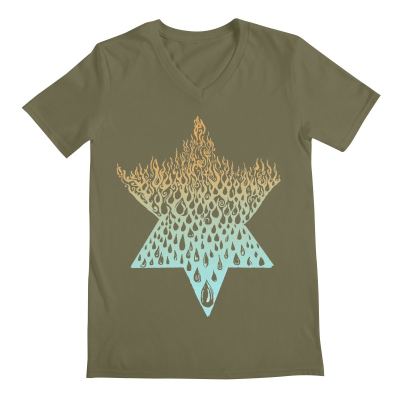 star of david tshirt Men's Regular V-Neck by Elevated Space