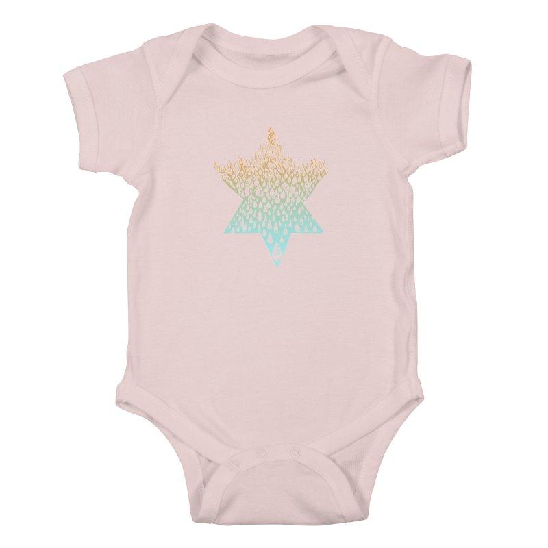 star of david tshirt Kids Baby Bodysuit by Elevated Space