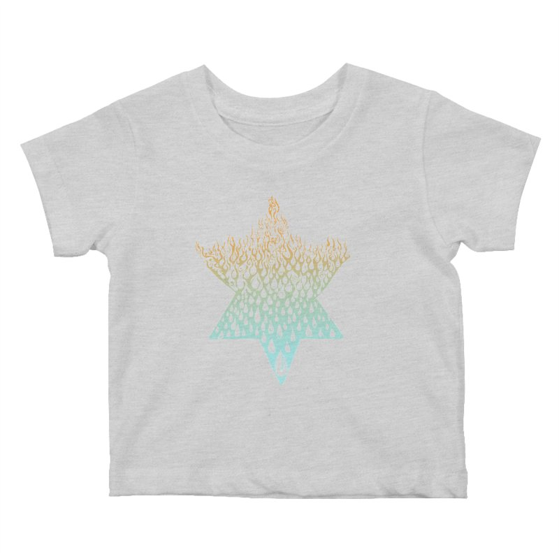 star of david tshirt Kids Baby T-Shirt by Elevated Space