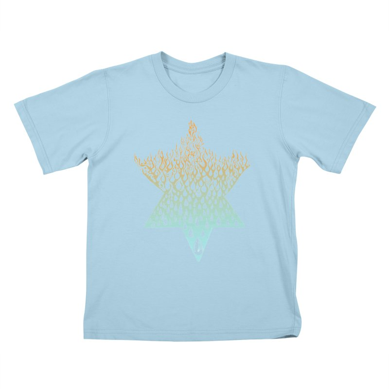 star of david tshirt Kids T-Shirt by Elevated Space