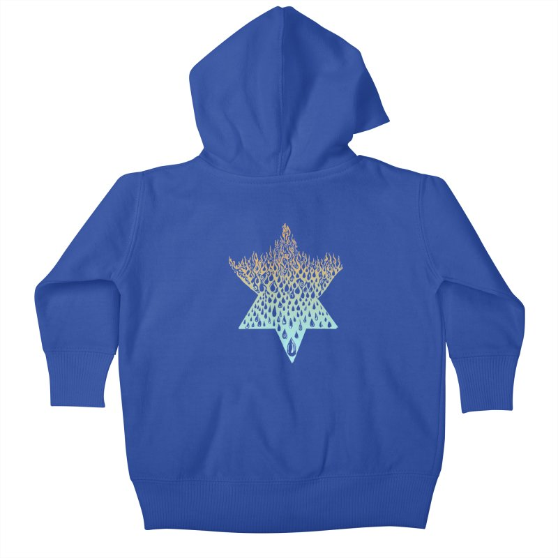 star of david tshirt Kids Baby Zip-Up Hoody by Elevated Space