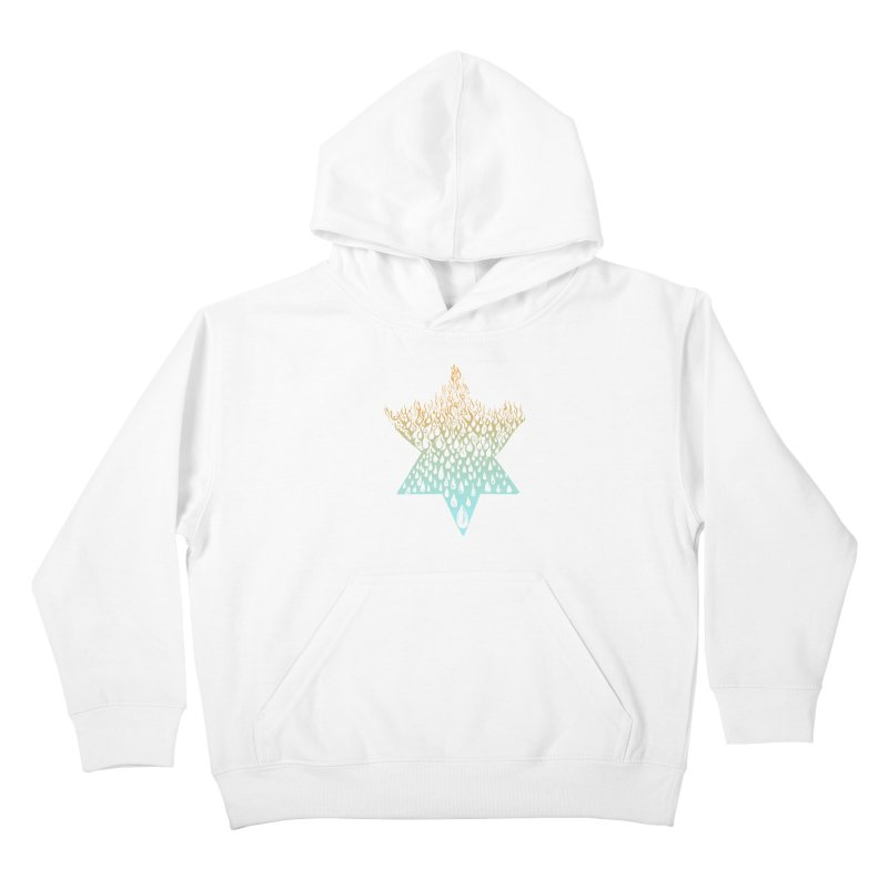 star of david tshirt Kids Pullover Hoody by Elevated Space