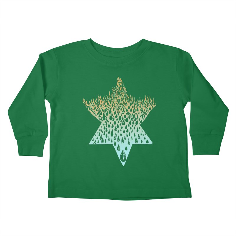 star of david tshirt Kids Toddler Longsleeve T-Shirt by Elevated Space