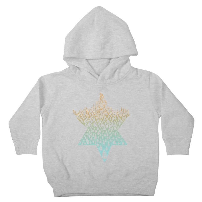 star of david tshirt Kids Toddler Pullover Hoody by Elevated Space
