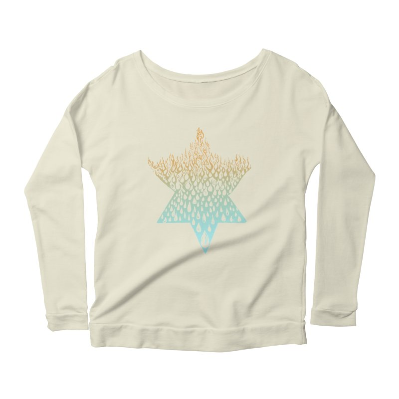 star of david tshirt Women's Scoop Neck Longsleeve T-Shirt by Elevated Space
