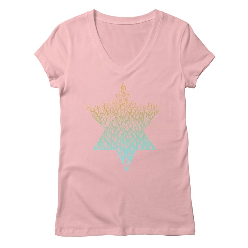 star of david tshirt Women's Regular V-Neck by Elevated Space