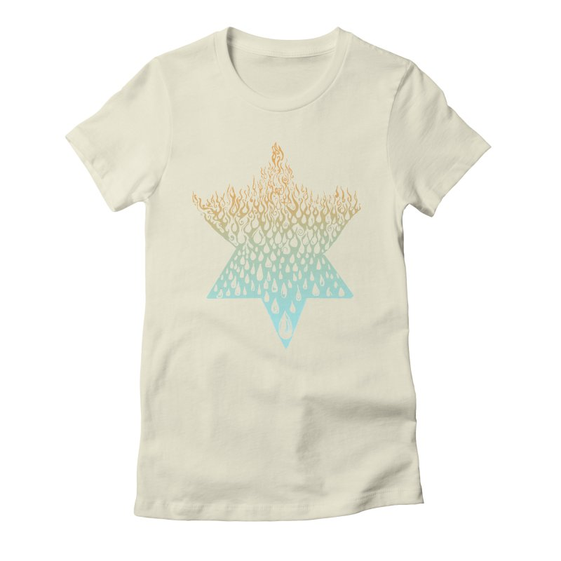 star of david tshirt Women's Fitted T-Shirt by Elevated Space