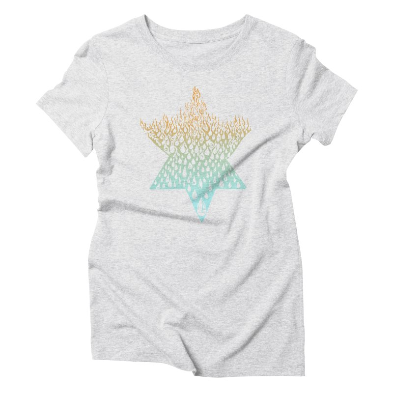 star of david tshirt Women's Triblend T-Shirt by Elevated Space