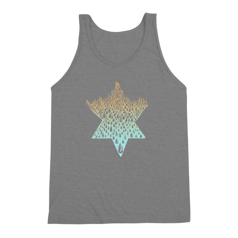 star of david tshirt Men's Triblend Tank by Elevated Space