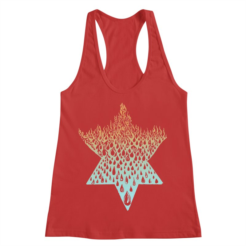 star of david tshirt Women's Racerback Tank by Elevated Space