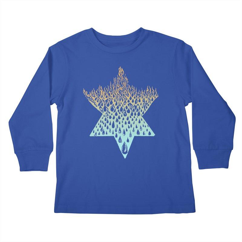 star of david tshirt Kids Longsleeve T-Shirt by Elevated Space