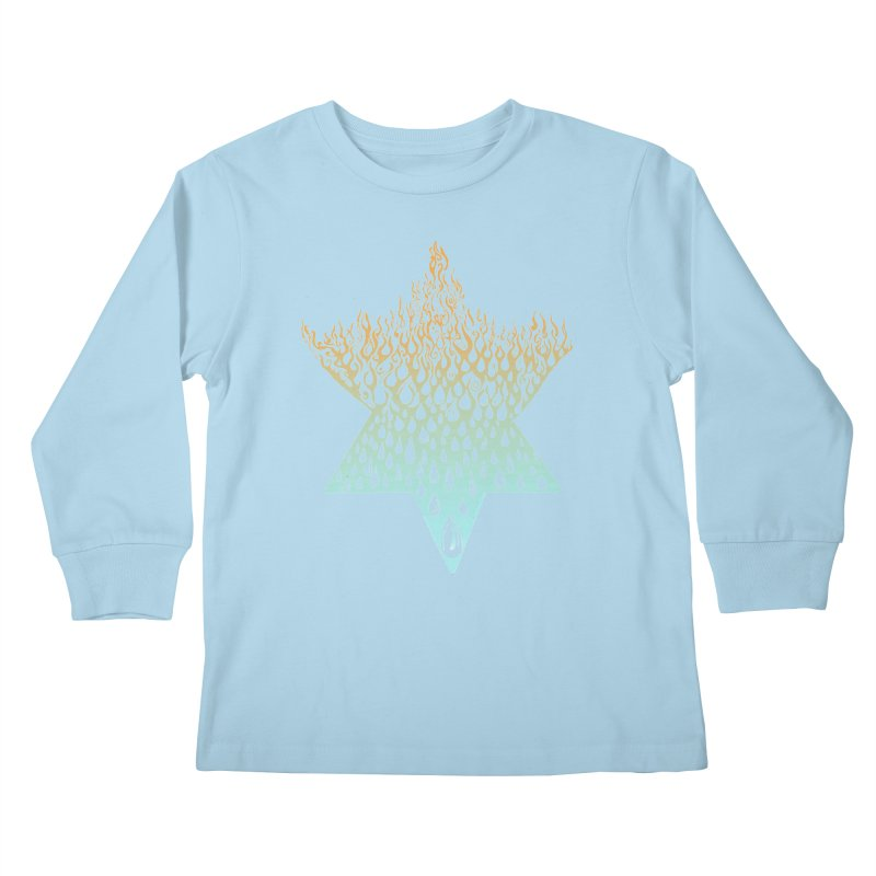 star of david tshirt Kids Longsleeve T-Shirt by Elevated Space