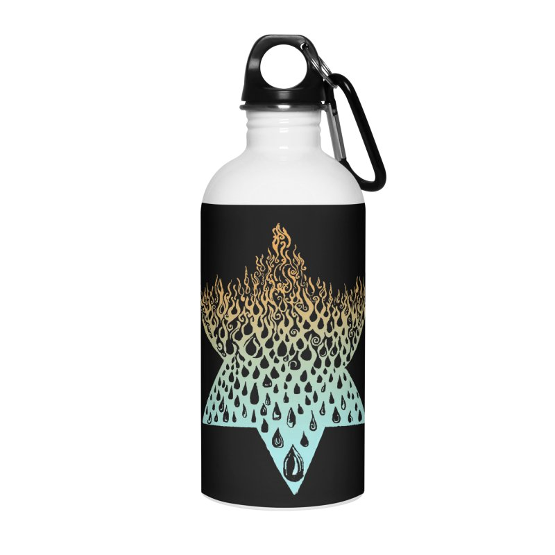 star of david tshirt Accessories Water Bottle by Elevated Space
