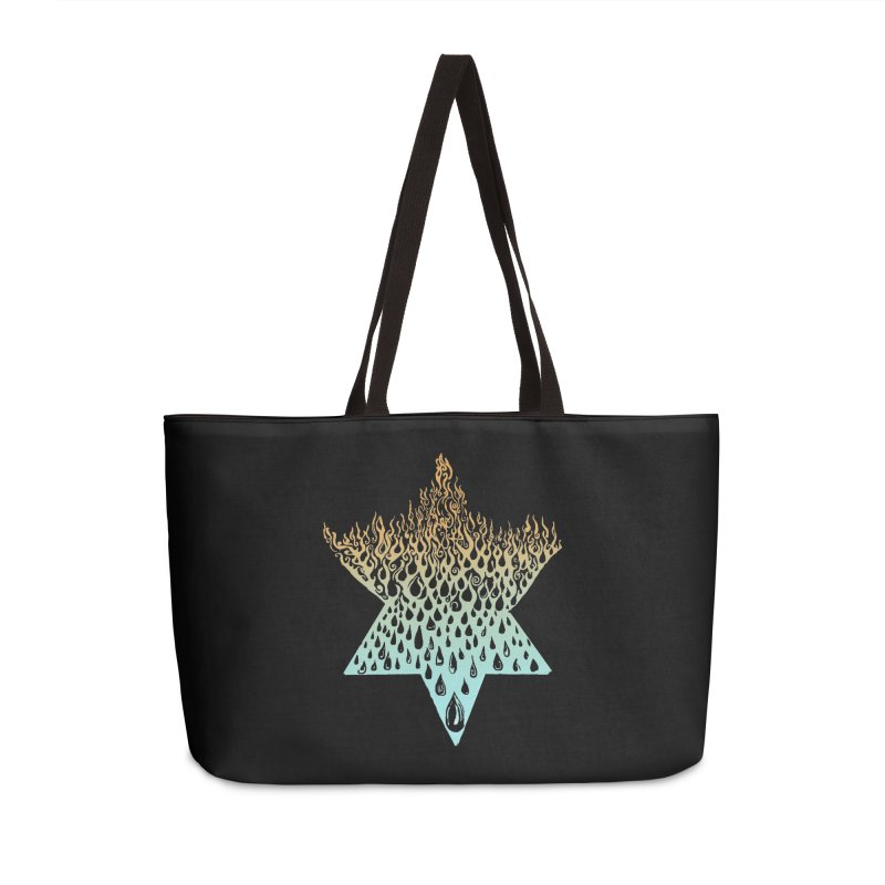 star of david tshirt Accessories Weekender Bag Bag by Elevated Space