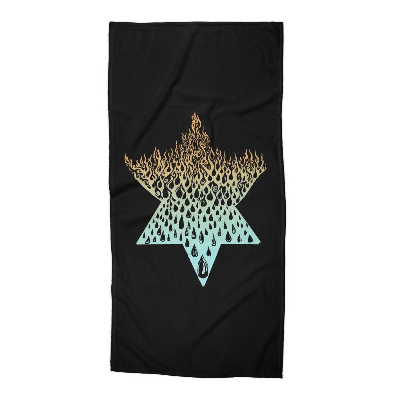 star of david tshirt Accessories Beach Towel by Elevated Space