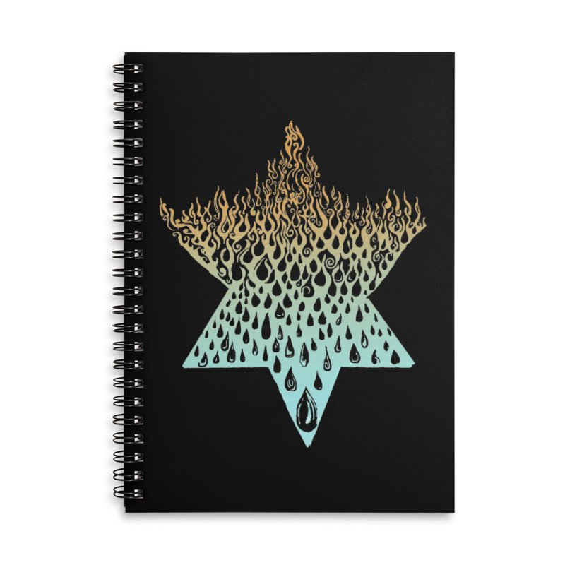 star of david tshirt Accessories Lined Spiral Notebook by Elevated Space