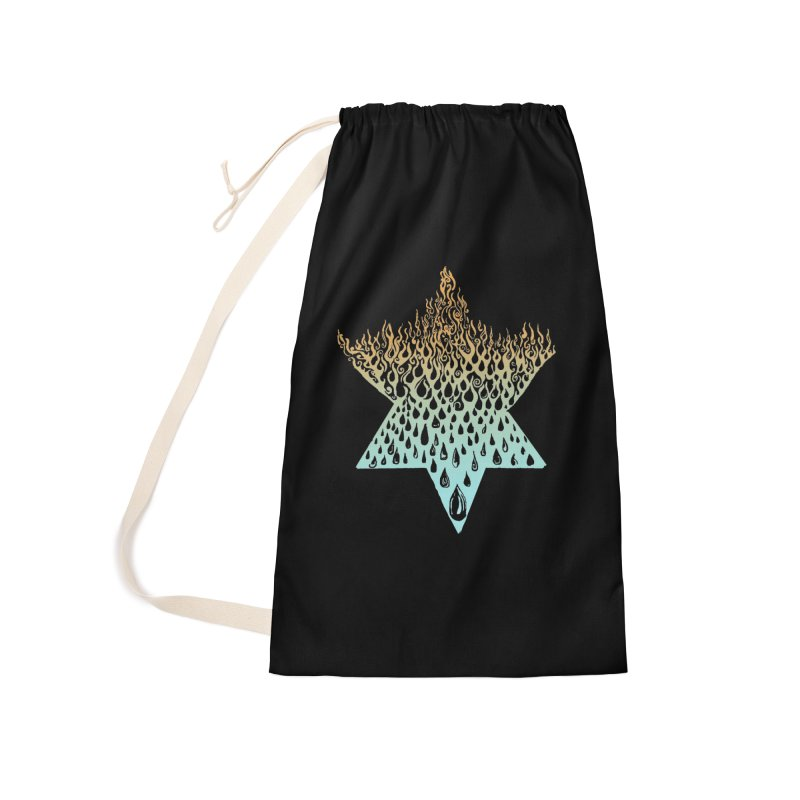 star of david tshirt Accessories Laundry Bag Bag by Elevated Space